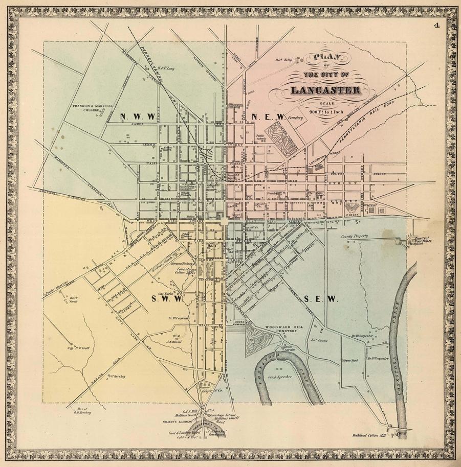 Lancaster Co 1864 - Lancaster City