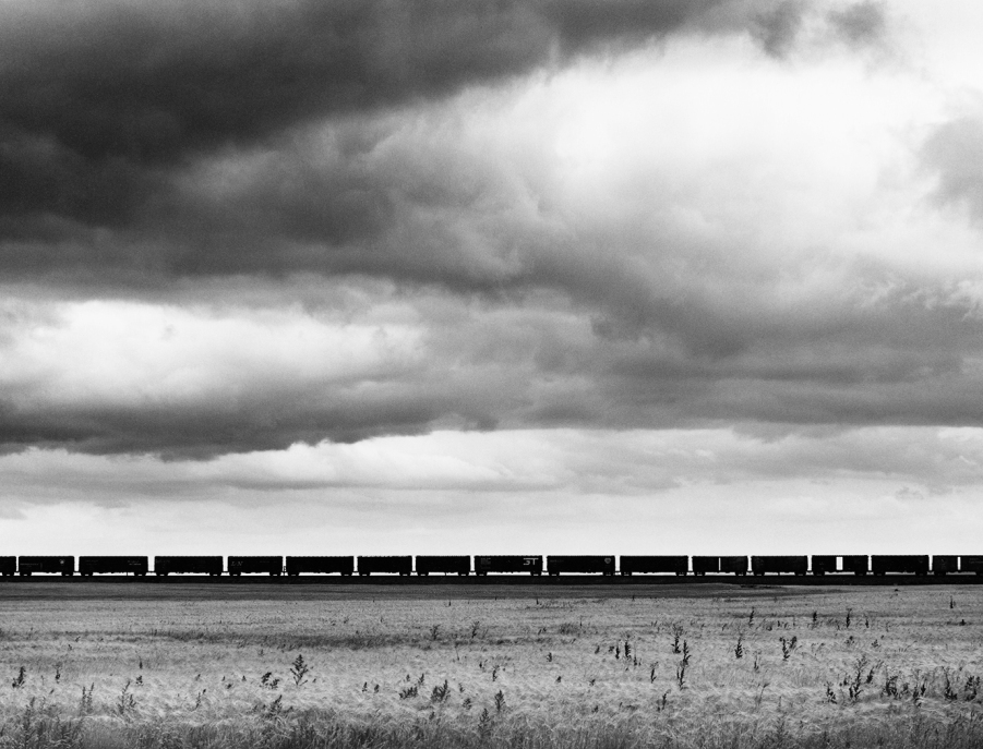 230. Freight Train, West of Havre, MT 1968